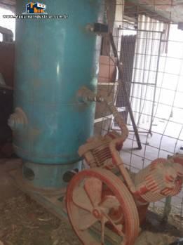 Compressor com tanque de pressão Atlas Copco