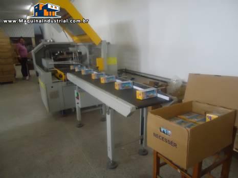 Embaladora flow pack automática