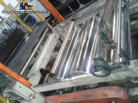 Extrusora completa para resina de emulsão para confecção de plásticos em PVC