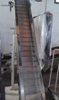 Esteira transportadora industrial em aço inox