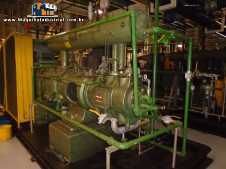 3 estações com 2 unidade de compressores cada